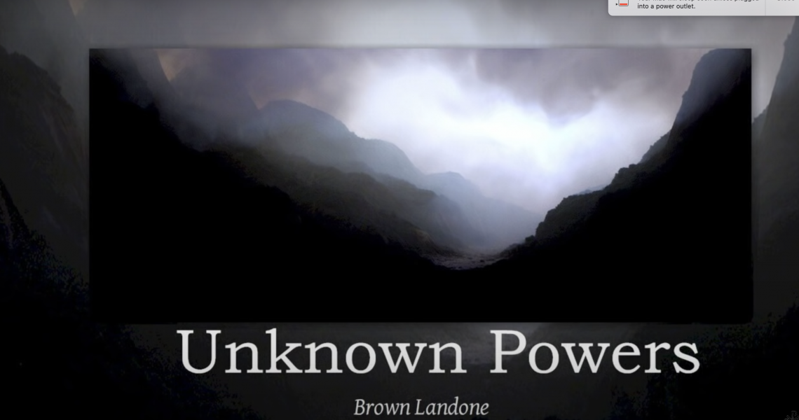 Unknown Powers (You can tap into)